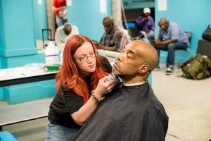 <strong>Haircuts with Heart visits our Men's Shelter</strong>